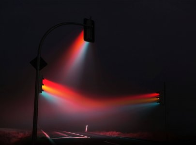Traffic Lights in the dark.