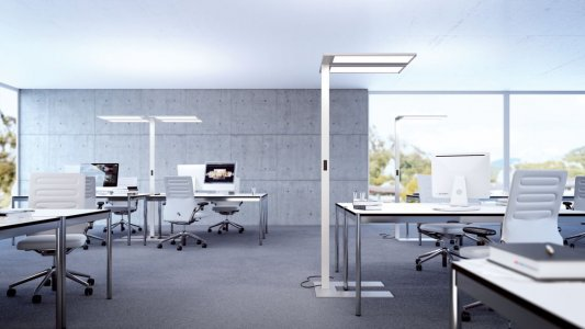 A luminaire in a office.