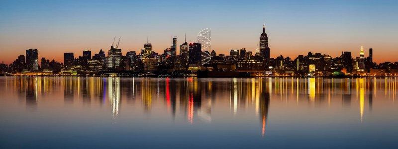 """Der """"Halo tower"""" in der Skyline Manhattans"""