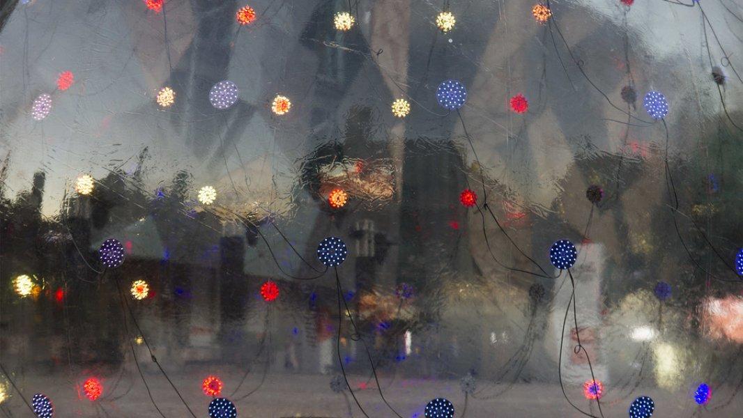 """Eine Nahaufnahme der Installation """"Light Bubble"""""""