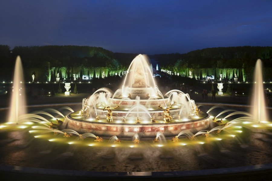 The Latona Fountain is one of the most splendid water features on the main axis of the gardens.