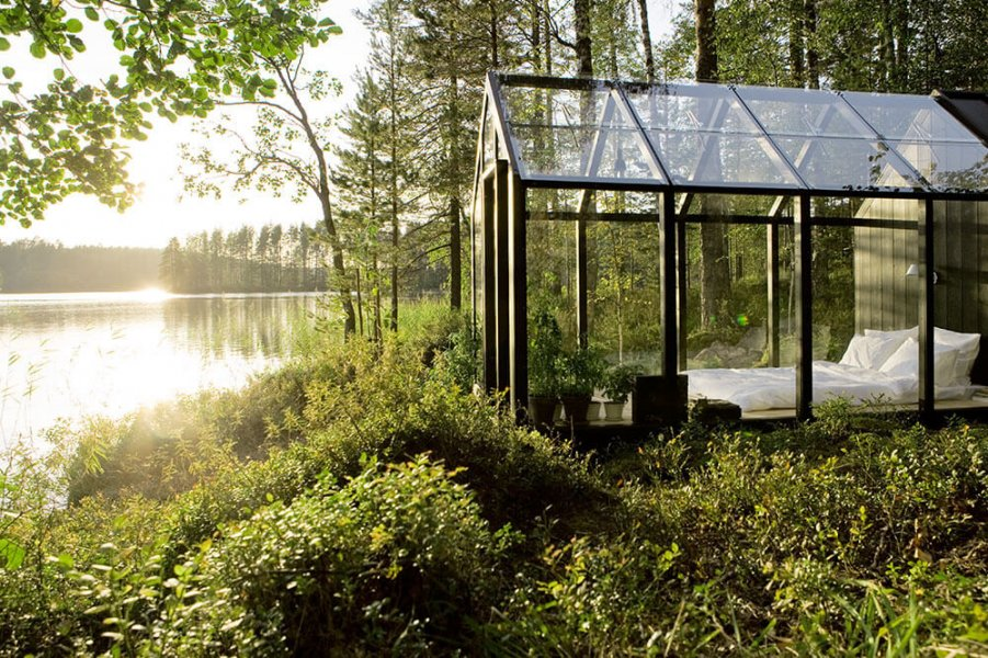 """Green Shed"" by Kekkilä Garden from a lateral perspective"