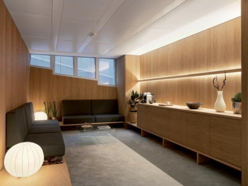 Ein Behandlungszimmer in der Entourage Schönheitsklinik Lausanne.