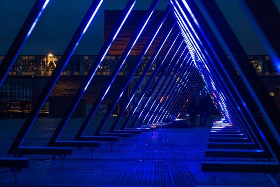 """Inside """"The Wave"""" in Kopenhagen."""