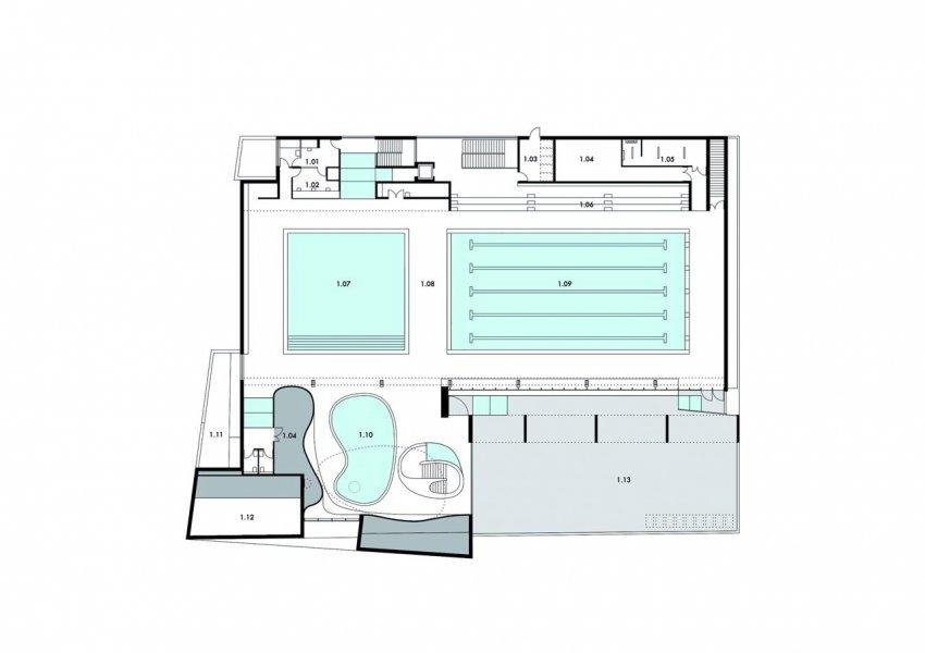 Ground plan, first floor.