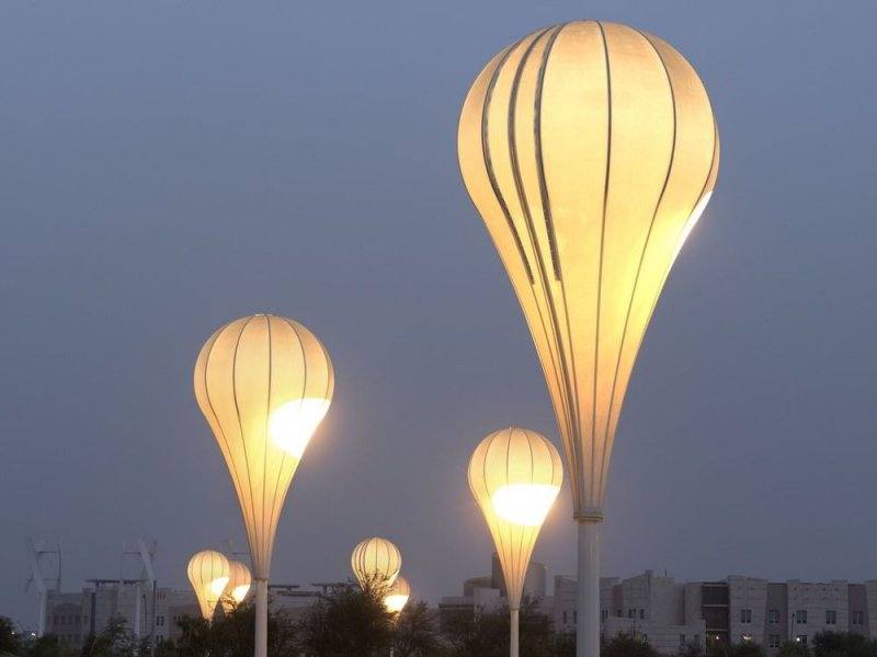 The balloon luminaires.